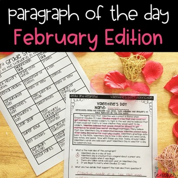 Text Evidence Paragraph of the Day-February