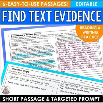 Smarter Balanced Text Evidence Proof Frames for Test Simulation