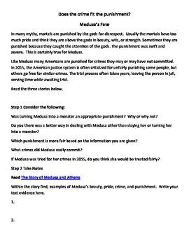 Text Evidence Reader Response Medusa