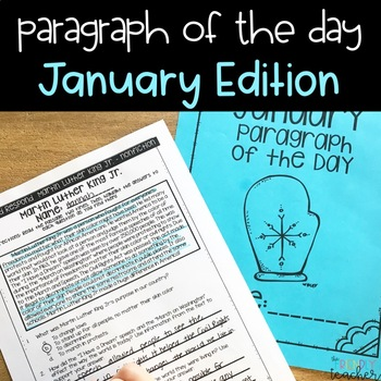 Text Evidence Paragraph of the Day-January