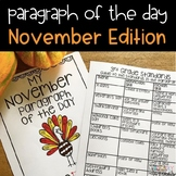 Text Evidence Reading Paragraph of the Day-November