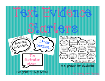 Text Evidence Starters
