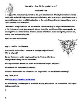 Text Evidence Writing Assignment  Medusa