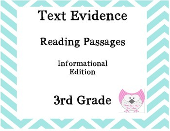 Text Evidence with fiction and non-fiction