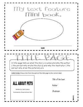 Text Feature Mini-Book and Create your Own Mini-Book ( Wri