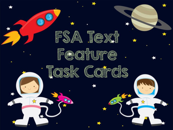 Text Feature Task Cards FSA Style