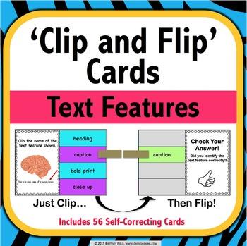 Nonfiction Text Features Activity: 54 Text Features Task C