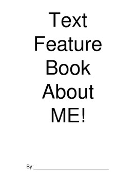 Text Features About Me book