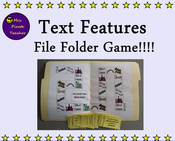 Text Features File Folder Game!