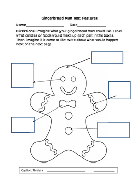 Text Features Gingerbread Man