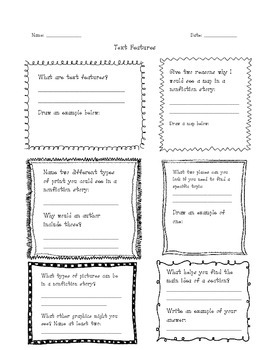 Text Features Independent Activity