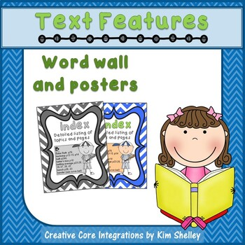 Text Features Posters and Word Wall Bundle