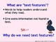 Text Features Project (Apply Text Features to the Making o