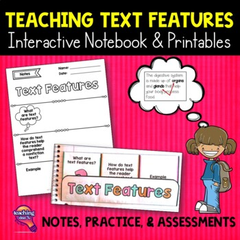 Text Features Reading Strategy Unit: Notes, Practice, & As