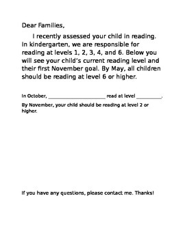 Text Level Letter to Parents
