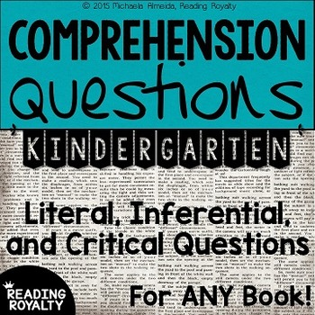 Literal and Inferential Comprehension Questions for ANY bo