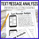 Text Message Analysis - Drawing Conclusions and Citing Evidence