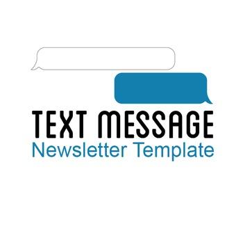 Text Message Newsletter Template