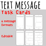 Text Message Task Cards - Editable