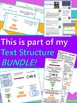 Text Structure Bookmark with Graphic Organizers, Key Words