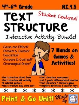 Text Structure Bundle (games, activities, assessment) 3rd,