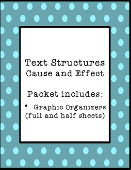 Text Structure-Cause and Effect