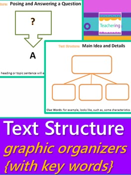 Text Structure Graphic Organizers (Work Mats or Posters)