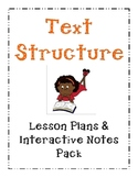 Text Structure Lesson Plans with Interactive Notes