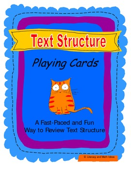 Text Structure Playing Cards