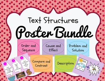 Text Structure Poster Bundle!