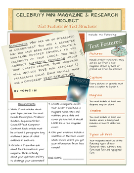 Text Structure Research Magazine Project