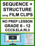 Text Structure & Sequencing with VIDEO: NO PREP Lesson & A