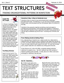 Text Structures Newsletter: Valentine Edition