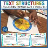 Text Structures Task Cards & Game