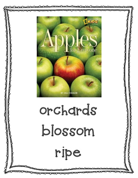 Text Talk Apples for Everyone Poster