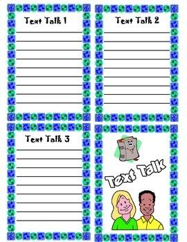 Text Talk Literature Circle Recording Form