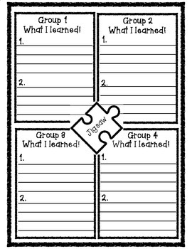 Text Talk Jigsaw Accountability Form