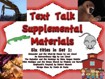 Text Talk Supplemental Materials Set 1 (6 book titles)
