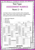 Text Type Rubrics for Assessment