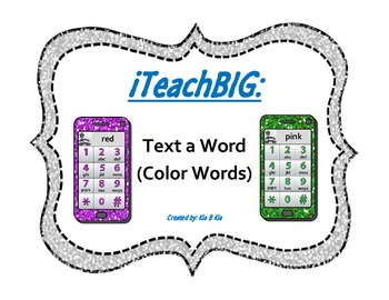 Text a Word (Color Words)