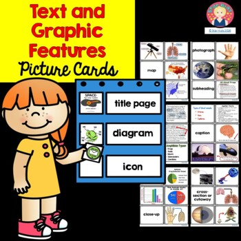 Text and Graphic Features {Picture Cards for Pocket Charts