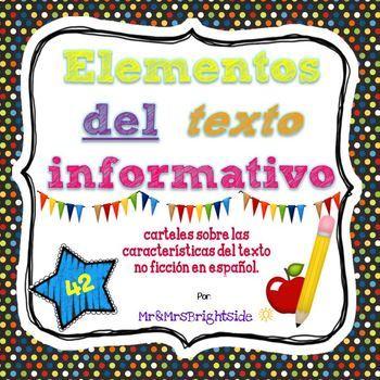 Text features in Spanish / Elementos del texto informativo