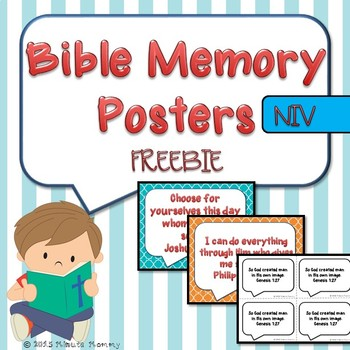 Bible Memory Posters {FREEBIE}