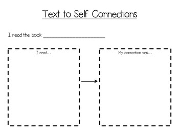 Text to Self Connections Worksheet