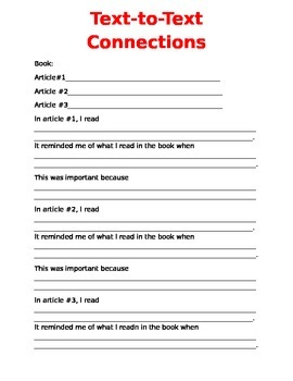 Text-to-Text Connections