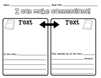 Text to Text Graphic Organizer