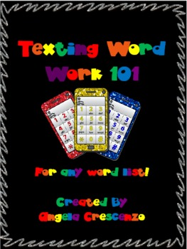 Texting Word Work for ANY word list