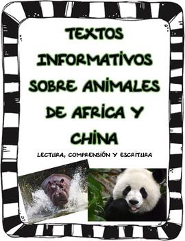 Textos Informativos sobre Animales de Africa y China