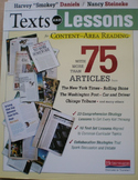 Texts and Lessons for Content –Area Reading