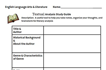 Textual Analysis Study Guide